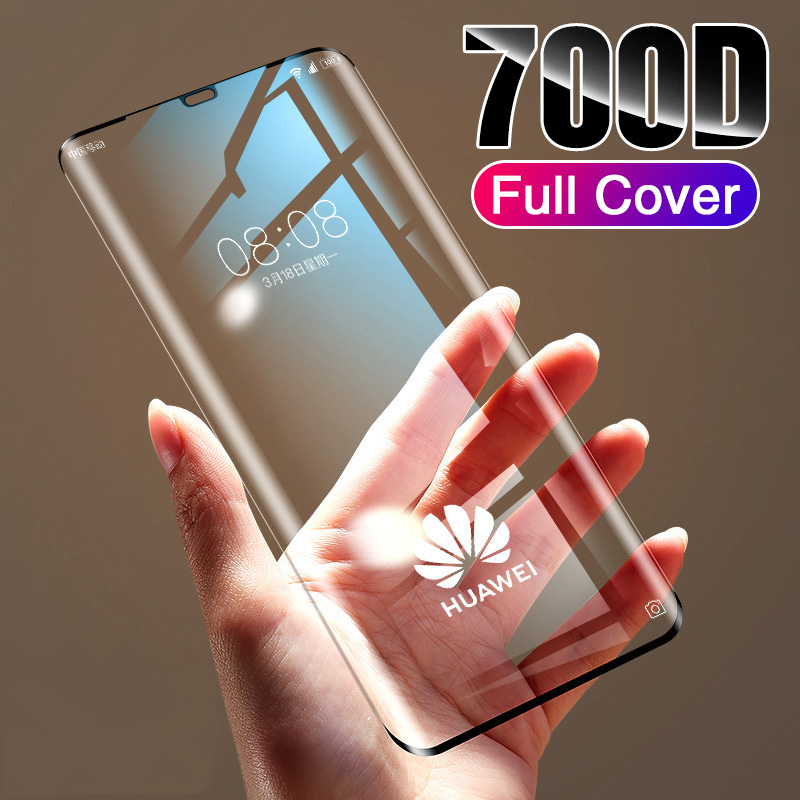 700D Tempered Glass For Huawei P30 P20 Lite Screen Protector Full Curved Edge mate 8 9 10 Protective Glass On Huawei P20 P30 Pro title=