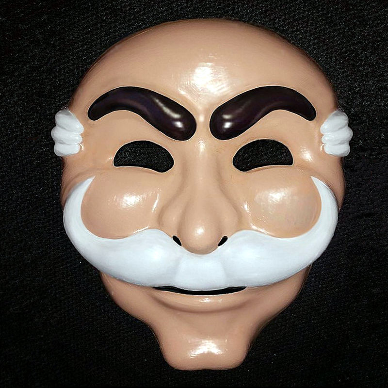Mr. Robot Fsociety Mask White Anonymous Team Evil Hacker Group V Vague Recollection Anonymous In Entertainment TV For Adults