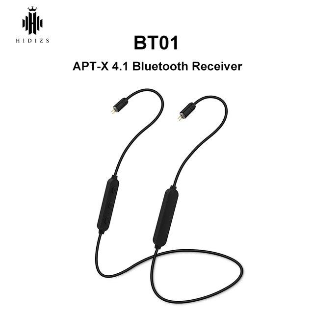 HIDIZS BT01 APT X ايفي الصوت 4.1 بلوتوث استقبال المحمولة قسط بلوتوث كابل مع 2pin/0.78 مللي متر مصنوعة ل MS4 MS1