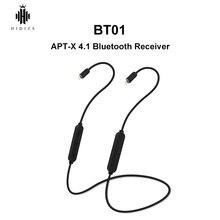 HIDIZS BT01 APT X HiFi Audio 4.1 odbiornik Bluetooth przenośny kabel Premium Bluetooth z 2pin/0.78mm wykonany dla MS4 MS1
