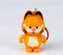 Garfield gato gatinho animal chaveiro feminino câmera chaveiro cadeias de couro trinket carro saco charme
