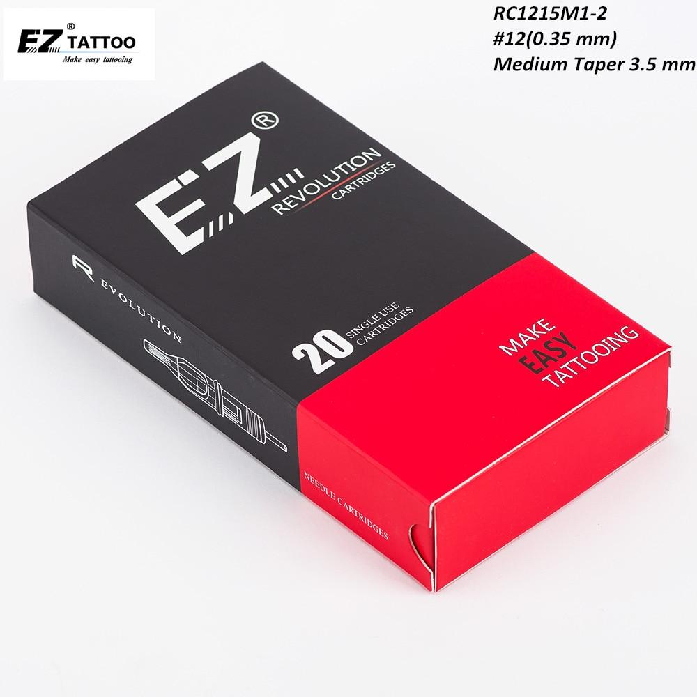 RC1215M1C-2 EZ Revolution картридж иглы #12 изогнутый Magnum M-конус совместим с машинами