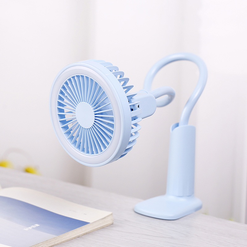 Portable USB Fan With LED Light Cooler Mini Fans Handy Clip Small Desk Desktop USB Cooling Fan 2 Speed Adjustable
