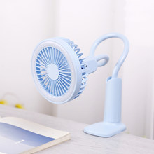 Portable USB Fan with LED light Cooler mini Fans Handy clip Small Desk Desktop USB Cooling Fan 2 Speed Adjustable(China)