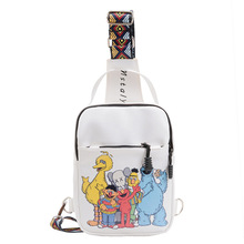 Women Canvas Shoulder Bag Fashion Graffiti Letter Cartoon Chest Bags Luxury Ladies Cute Handbag Mini Crossbody Bag girl Tote 2017 fashion cartoon handbag tote shoulder stripe casual women ladies canvas bag simple cute mini girl bags bolsa feminina