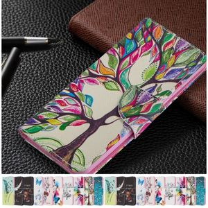 Life Tree Bear Kids Phone Case For Xiaomi CC9 Pro Y1 5X 6 A2 Lite A1 Poco F1 Redmi Note 9 Pro Max 9S 8T Flip Leather Wallet P07G(China)