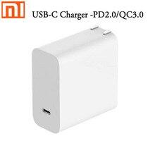 """מקורי Xiaomi מטען 45W USB C 65W Mi מקסימום חכם פלט סוג C יציאת USB פ""""ד 2.0 מהיר תשלום QC 3.0 מתנה [כבל סוג כדי סוג c]"""