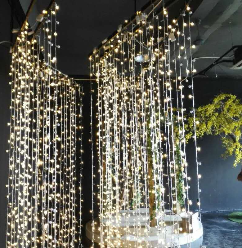 Christmas Led Lights Curtain Garland 3X3M 6X3M LED String Fairy Decorative Outdoor Indoor Home Wedding Decoration Net Light