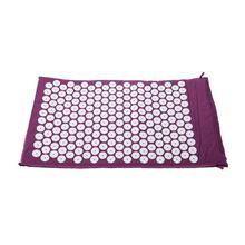 Carpet Mat for Acupressure Acupuncture Yoga Massage + Carry Bag purple цена