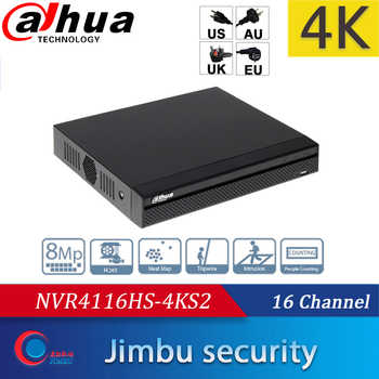 DAHUA NVR4116HS-4KS2 16Ch 4K Up to 8MP &H.265 NVR 1U Lite onvif nvr Video alhua Recorder HDMI/VGA simultaneous Muilt-Language - Category 🛒 Security & Protection