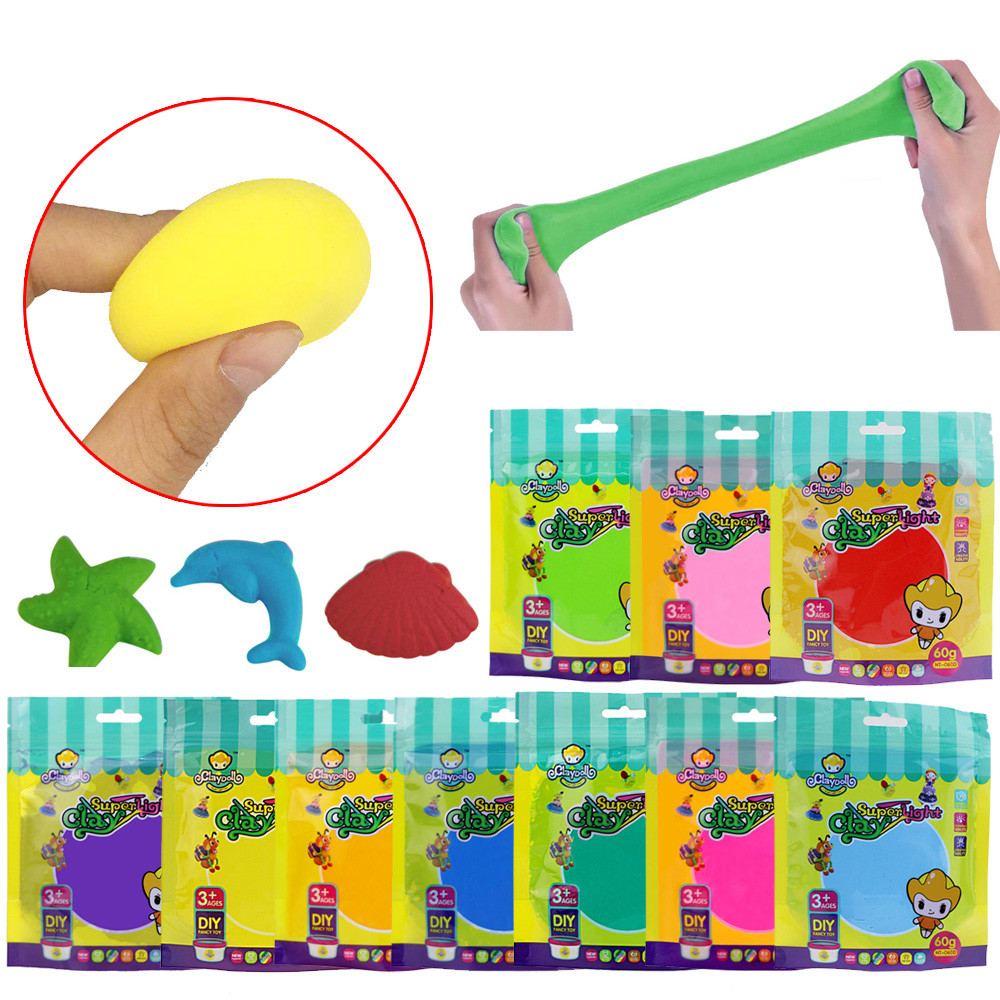 Puzzle Hand Playing Bagged Clay Toys Squishy Slow Rising Cream Scented Squeeze Decompression Toy For Kids GiftL113