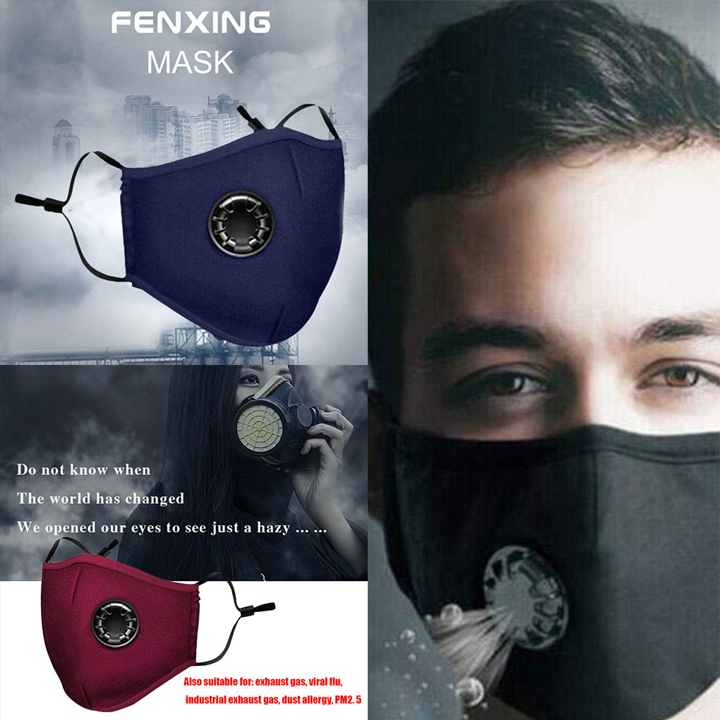 PM2.5 Mouth Mask Dust Respirator Washable Reusable Masks Cotton Muffle Anti-fog Riding Sun Activated Carbon 3D Mask