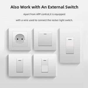 Image 3 - Sonoff básico/mini wifi em dois sentidos interruptor inteligente pequeno aplicativo/lan/voz/controle remoto diy suporte um interruptor externo do google casa alexa