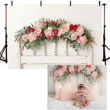 Mocsicka Background Photography Headboard Family Party Backdrop Decoration for Home Flowers Photocall Photophone Photo Studio