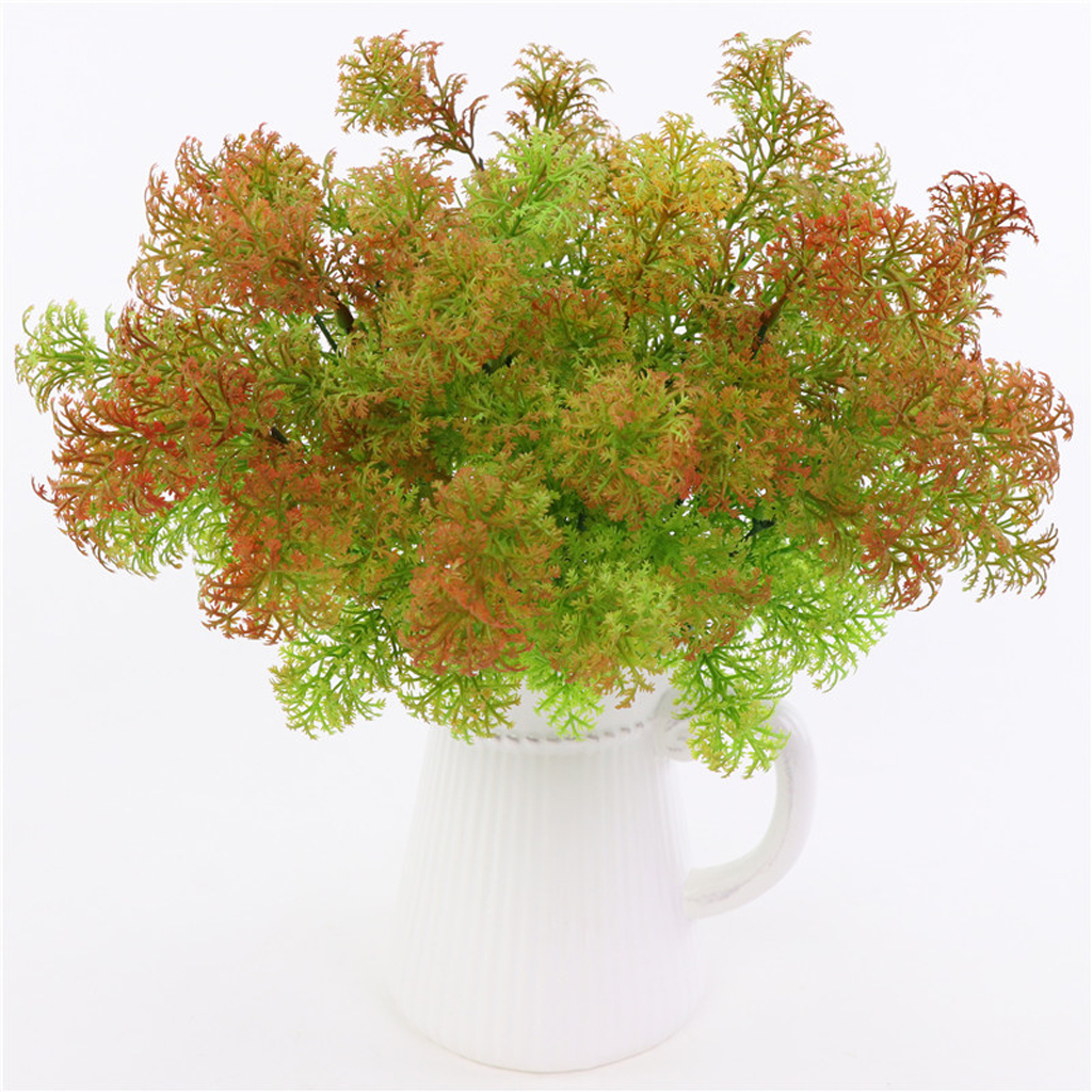 1Pcs Artificial Plastic Fresh Moss Grass Plants Wedding Home Church Party Greenery Decorations Crafts 35cm Height