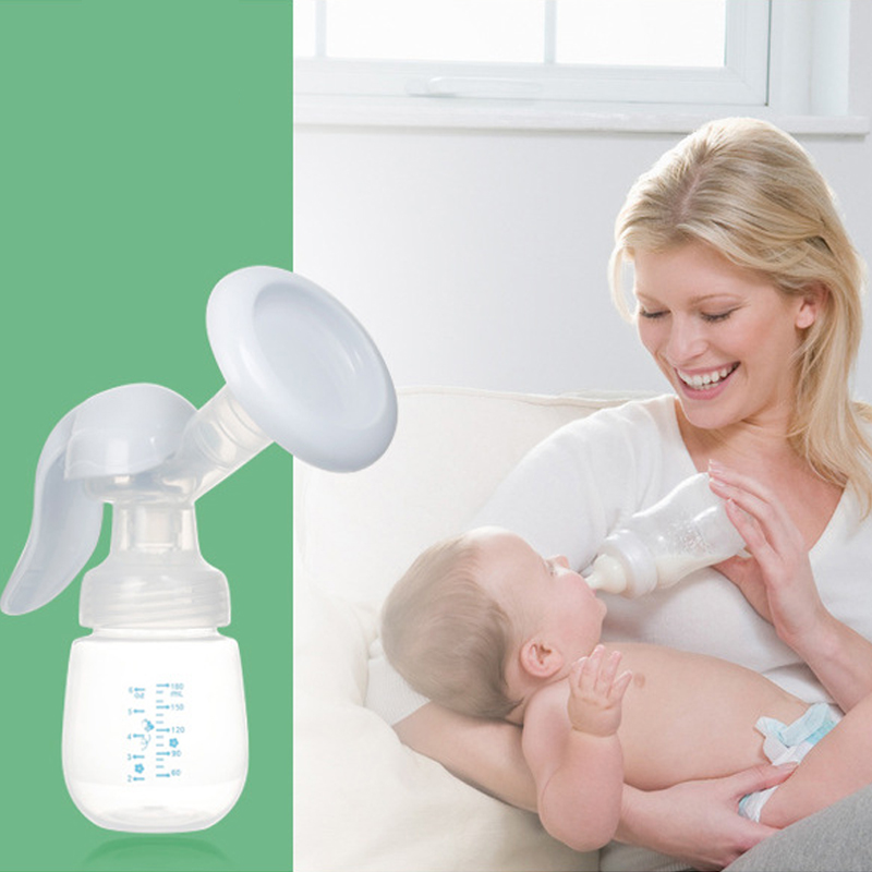 Portable Manual Push Type Silicone Maternal Breast Pump Massage Comfortable Breast Pump Baby Feeding Bottle Milk Collection Pump