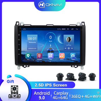 For Mercedes Benz B200 A B Class W169 W245 Car Radio Android 9.0 Multimedia Player Navigation GPS 9 Inch Carplay 360 Sony Camera image