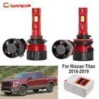 Lámpara de faro LED para coche Cawanerl 4 X haz alto bajo 60W H11 + 9005 faro blanco para camión 12V para Nissan Titan 2016, 2017, 2018, 2019