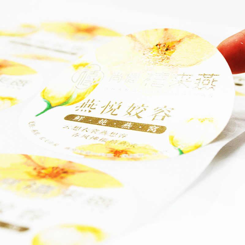 Adesivos personalizados/logotipo da impressão de etiquetas/etiqueta adesiva transparente/PE PVC vinil papel/Mutável conteúdo DIY
