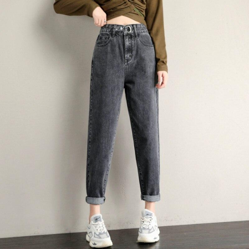 Casual Jeans Woman Plus Size Denim Pants Ladies Loose Vintange Pantalon Jean Femme Blue High Waist Vaqueros De Mujer