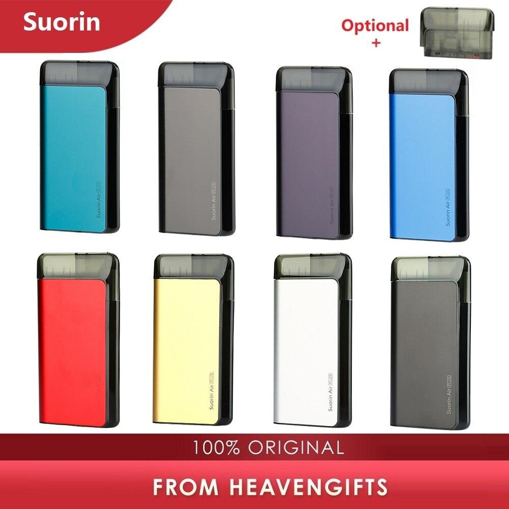Kit de système de dosette d'origine Suorin Air Plus avec batterie intégrée de 930mAh et Kit de Vape e-cig Pod réservoir de 3.5ml E cig vs glisser Nano/Minifit