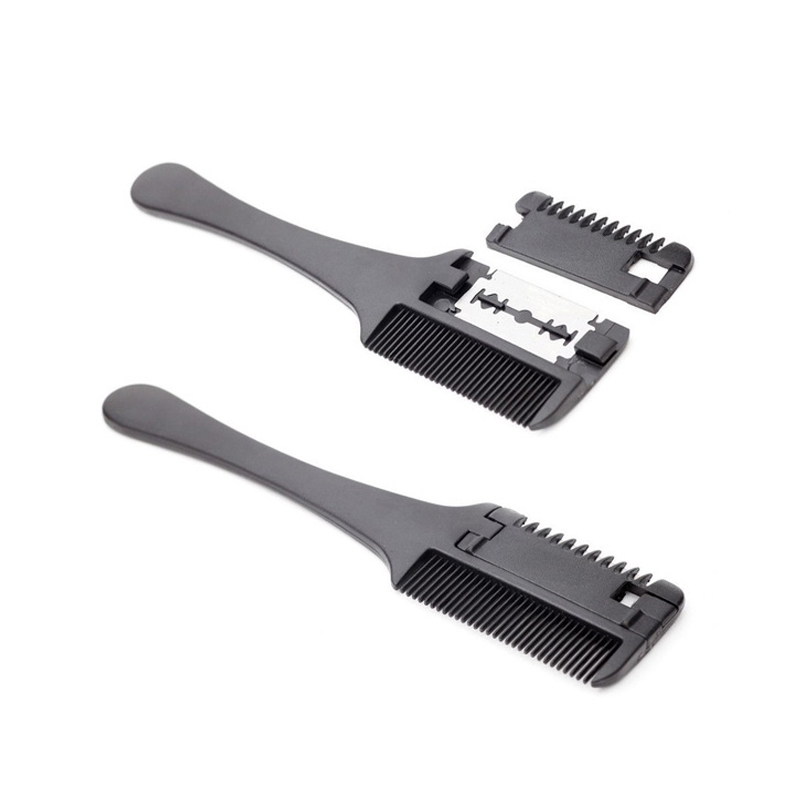 Home Hair Cutting Comb Black Handle Hair Styling Adult Old Man Thinning Razor Brushes Combs Hair Trimmer Japanese Comb