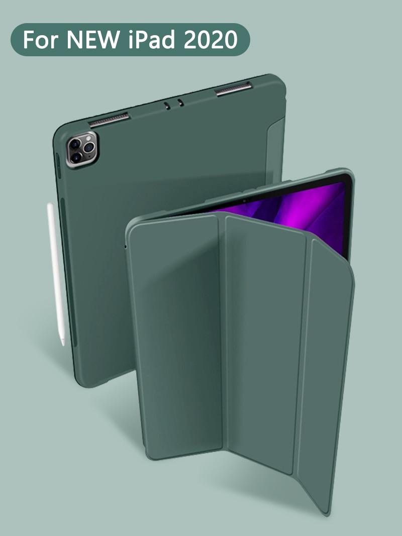 GOOJODOQ Case For IPad Pro 11 2020 & 2018, Ultra Slim PU Leather Smart Cover Soft Funda For New IPad Pro 11 Inch 2nd Gen Case
