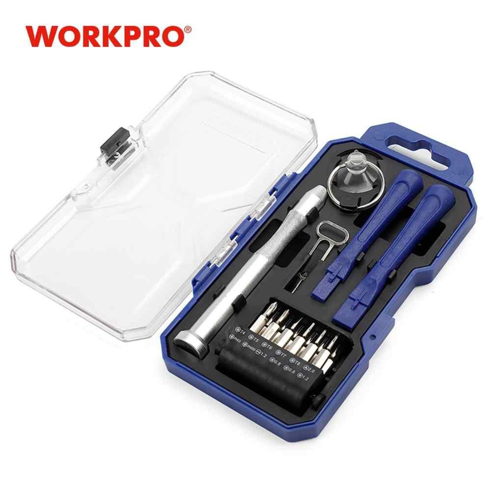 مفك براغي دقيق 18 قطعة من WORKPRO طقم أدوات إصلاح هواتف iphone ipad الذكية