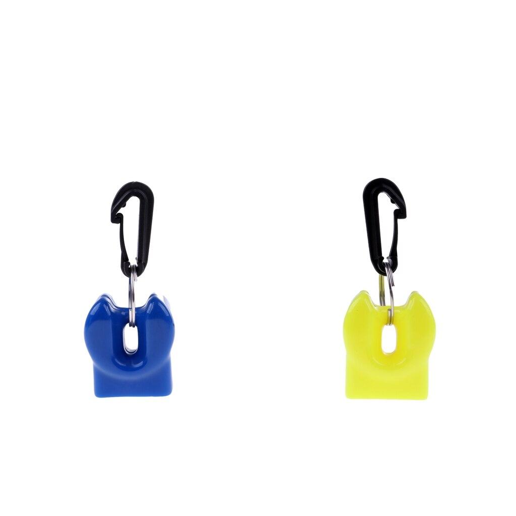 2x Durable Scuba Diving Regulator Mouthpiece Cover Holder Retainer w// Clip