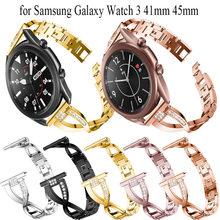 Ремешок из нержавеющей стали для samsung galaxy watch 3 41 мм