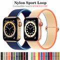Ремешок нейлоновый для Apple Watch Band 44 мм 40 мм 38 мм 42 мм 44 мм, спортивный браслет для наручных часов, браслет для Iwatch Series 3 4 5 6 se
