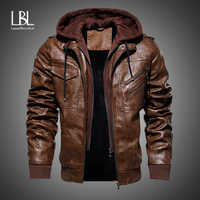 Hommes en cuir vestes 2019 hiver nouveau décontracté moto veste en cuir synthétique polyuréthane Biker en cuir manteaux européen coupe-vent en cuir véritable veste