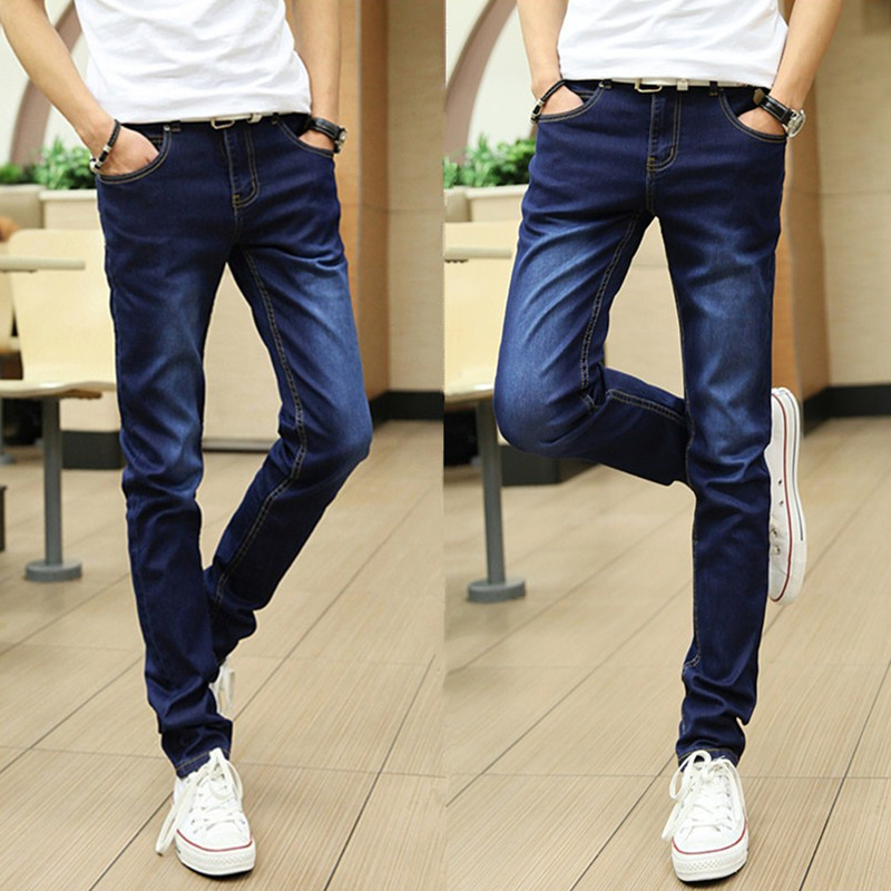 Jeans Men's Korean-style Trend 2018 Slim Fit Pants Spring New Style Youth Casual Elasticity Long Pants