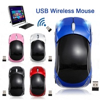 Creative 2.4GHz 1200DPI Car Shape Wireless Optical Mouse USB Scroll Mice Computer Professional For PC Laptop With USB Receiver Mice     -