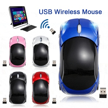 Creative 2.4GHz 1200DPI Car Shape Wireless Optical Mouse USB Scroll Mice Computer Professional For PC Laptop With USB Receiver image