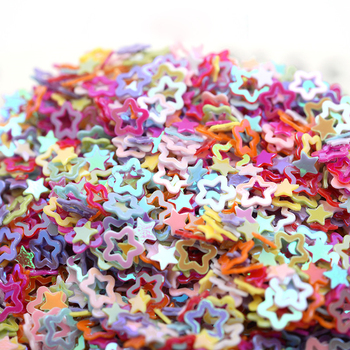 4MM 50g Mixed Loose Glitter Sequin Hollow small Pentagra Sequins Nail Art Manicure Decor Wedding Confetti DIY Crafts Accessories