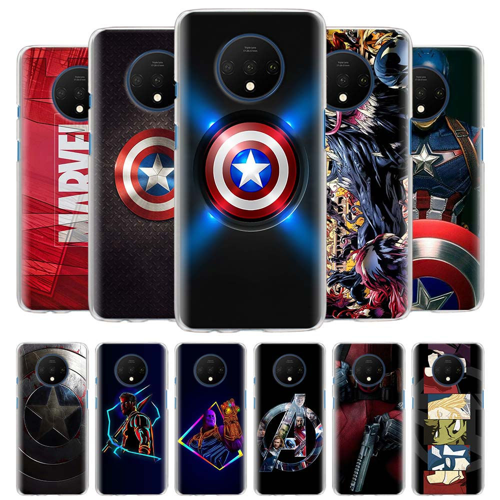 Marvel Superheroes The Avengers Phone Cases for Oneplus 7 7T Pro 7 Pro 5G 6 6T Hard Housing Cover