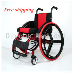 Free shipping Manual Scooter Disabled Sports Wheelchair With Outdoor Activity