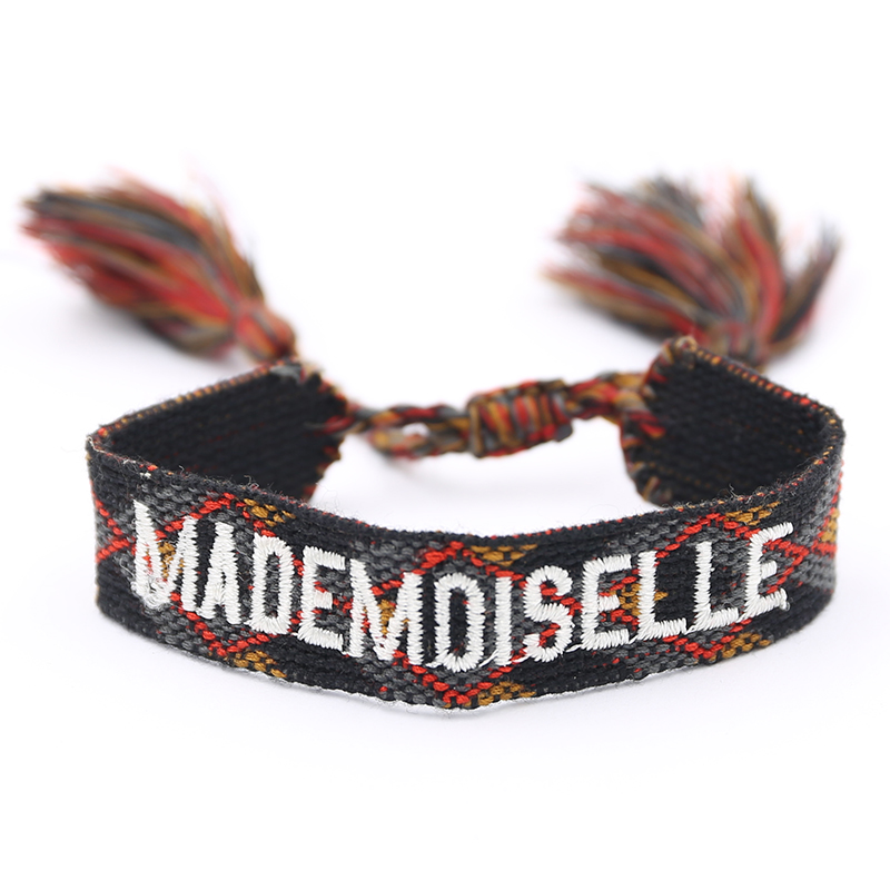 Handmade Weave Braided Bracelet Women Summer Vintage Rope Ethnic Friendship Bracelets Adjustable Embroidery Bracelet
