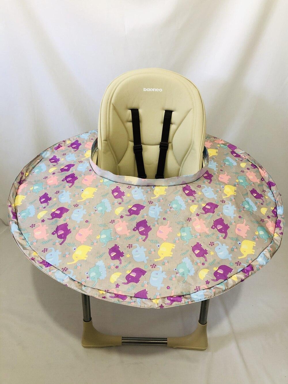 Качественное ресторанное и домашнее детское блюдце для кормления, чехол на стульчик для кормления, зародыши предотвращает падение еды и игрушек на пол - Цвет: Elephant