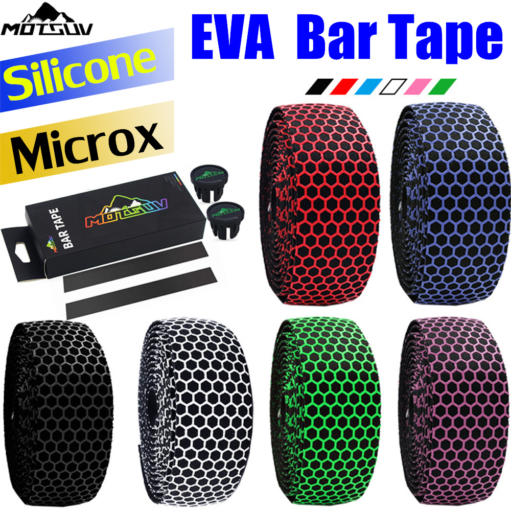 Road Bike Handlebar Tape Comfort Antiskid EVA+PU Fixed Gear Bicycle Handlebar Tape