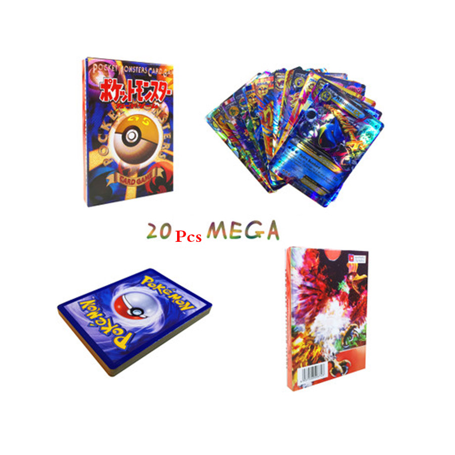 42 шт. GX Мега Сияющий TAKARA TOMY карточная игра Покемон битва карт торговые карты игра детская игрушка - Цвет: 20pcs MEGA