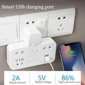 Image 4 - Smart socket timing energy saver quick charge USB 220V CN plug power strip overcurrent  protection wall extension socket