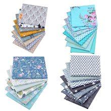 25x25cm 6/7/8 pçs diy impresso tecido de algodão pano costura estofando tecidos para retalhos bordado diy artesanal acessórios