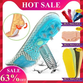 EVA wiosna silikonowe buty ortopedyczne podeszwy wkładki płaskostopie wkładki ortopedyczne sklepienie łukowe wkładki podeszwowe Fasciitis pielęgnacja stóp tanie i dobre opinie 1 cm-3 cm Średnie (b m) E THXD Geometryczne Szok-chłonnym silicone inserts for shoes pad for shoes arch orthopedic flat feet