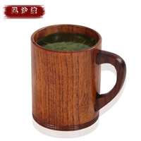 Handmade Solid Coffee Mug Beer Mug with Handle Pure Copper Moscow Mule Mugs with Large Capacity Wooden Cup Drinkwares 50MKB61