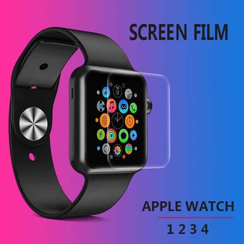 מסך מגן נקה מלא כיסוי מגן סרט עבור iWatch 4 40MM 44MM לא מזג זכוכית עבור Apple שעון 3 2 1 38MM 42MM