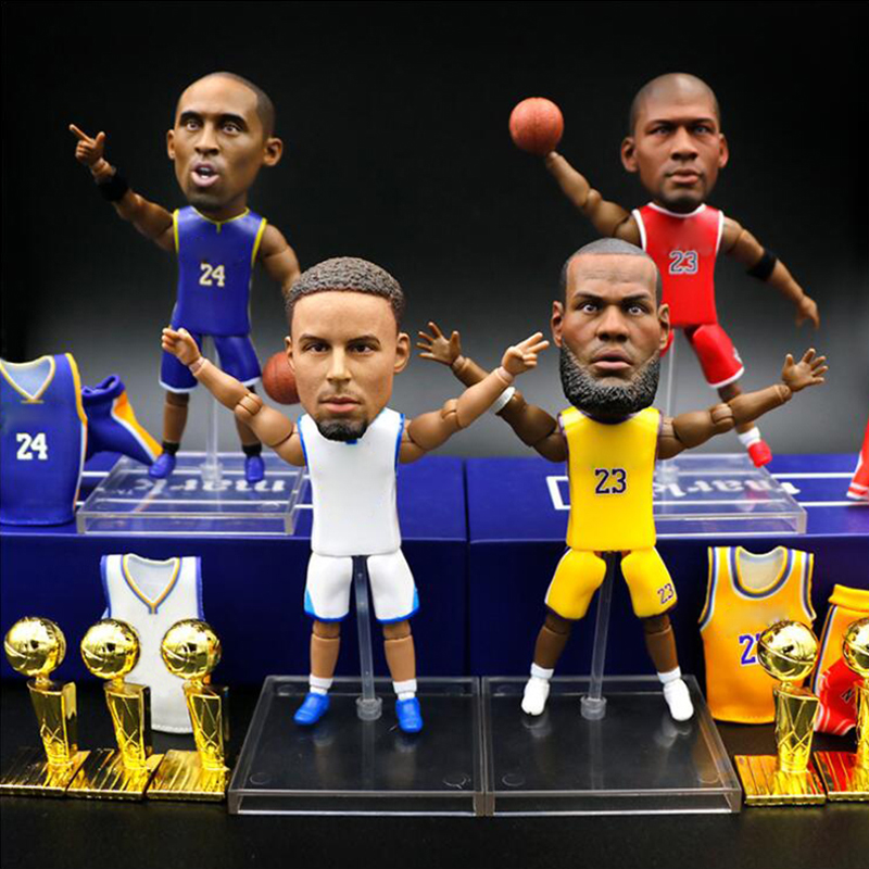 2020 Hot Sale Basketball Stars Toys 12cm Height JAMES Highlight Player Figure Doll Fans Gift Souvenir