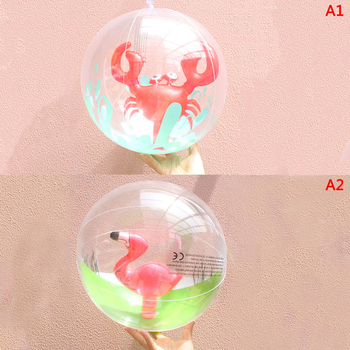 1 Pcs Inflatable Transparent Beach Ball for Outdoor Swimming Pool Water Playing Ball Play Water Beach Toys 1