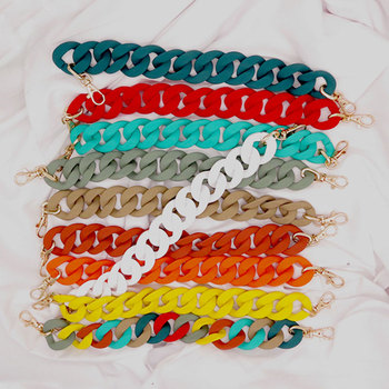 38-60cm Acrylic Resin Chain Bag Strap For Handbag Handles Women Pouch Purse Chain Strap Acrylic Plastic Chain Bag Accessories